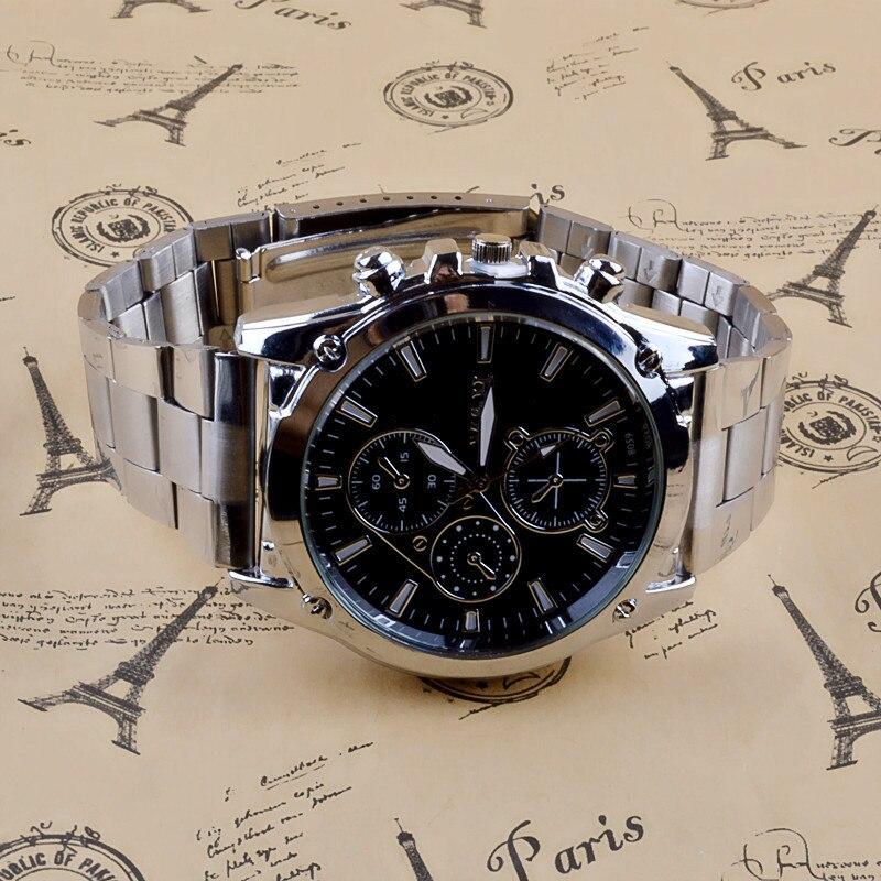 Gemixi-Reloj de pulsera de acero inoxidable para hombre nuevo accesorio de pulsera...