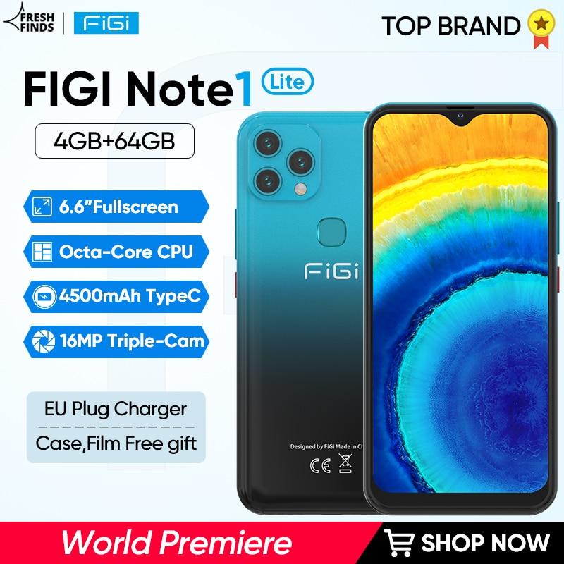 FIGI-smartphone Note 1 Lite, teléfono móvil con procesador Octa Core, cargador tipo...