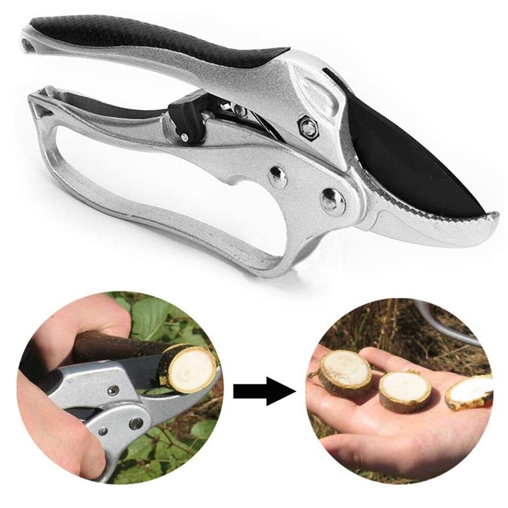 Podadora de huerto cortador arbusto herramientas de árboles de jardín Tijera para flores herramienta de trinquete planta de corte horticultura tijeras de mano herramientas de jardín
