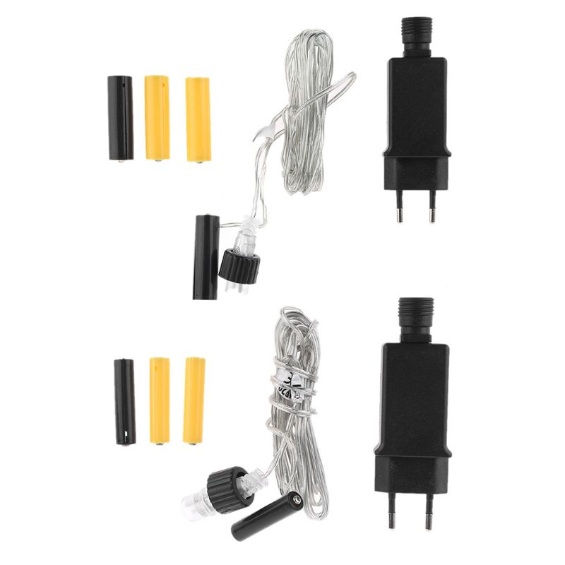 EU Plug AA AAA Battery Eliminator Replace 2x 3x AA AAA Battery Power Supply Cable for Radio Holiday