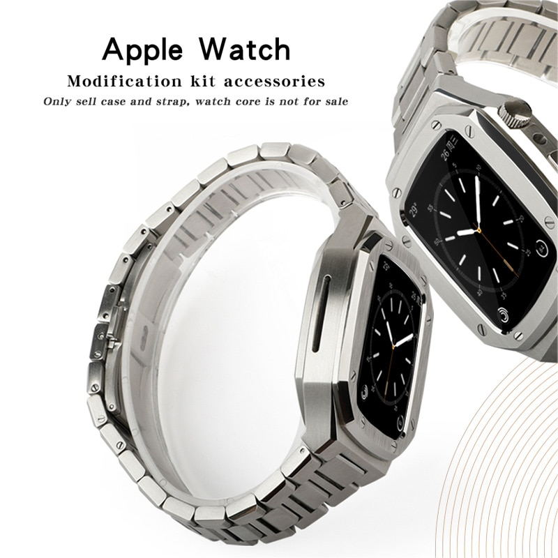Stainless Steel Watchband Case for Apple Watch Band 44mm 40mm Metal Series 6 SE 5 4 3 2 Correa for iWatch Modification 42mm 38mm enlarge