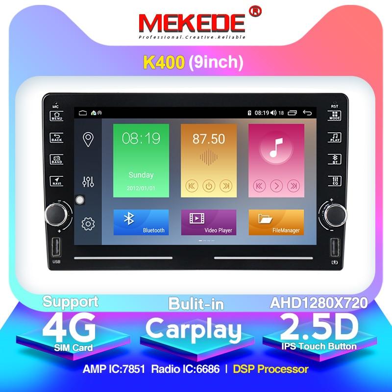 Reproductor Multimedia MEKEDE K400 2 din GPS para coche para Nissan, TOYOTA, Kia, RAV4, Honda, VW, Hyundai, Carplay, wi-fi, FM, Unidad Central USB
