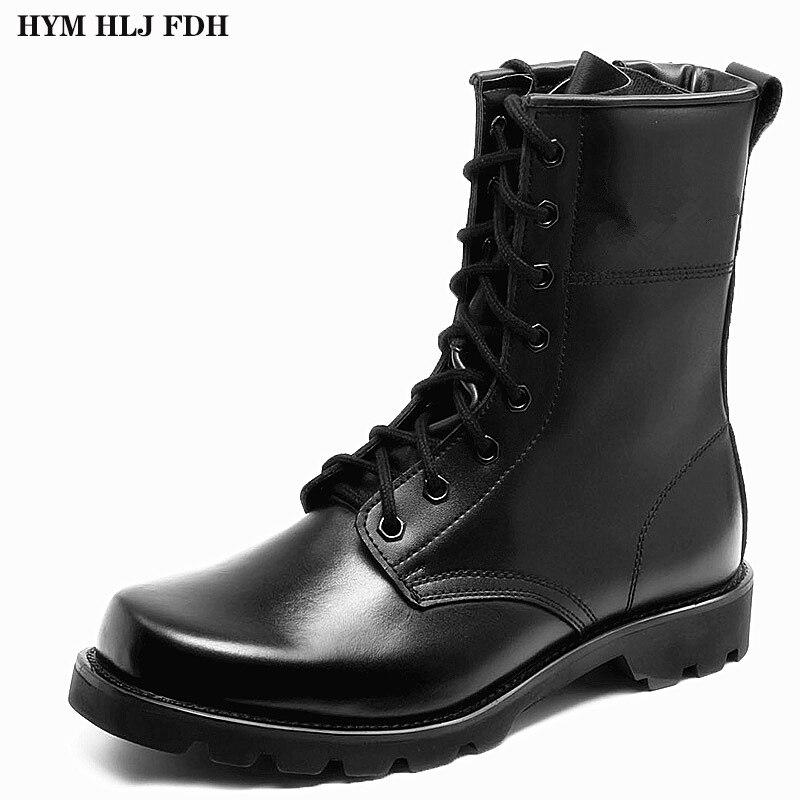 Botas militares para hombres, botas de entrenamiento de fuerzas especiales, botas de combate ultraligeras con Cabeza de Acero para hombres y zapatos de seguridad de mujer