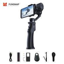Smartphone de cardan de stabilisateur de cardan tenu dans la main de 3 axes de Capture de Funsnap pour le stabilisateur de cardan de caméra daction de Gopro Sjcam Xiaomi 4k