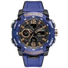 2021 Smael Watch Men Quartz Movement Digital Time Stopwatch Alarm Clock Waterproof Military Sport Me