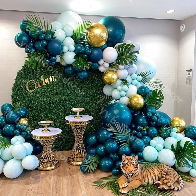 Balloons Garland Arch Kit Macaron Tiffany Blue Pastel Latex Balloon RETRO Dark Green Birthday Wedding Baby Shower Party Decor