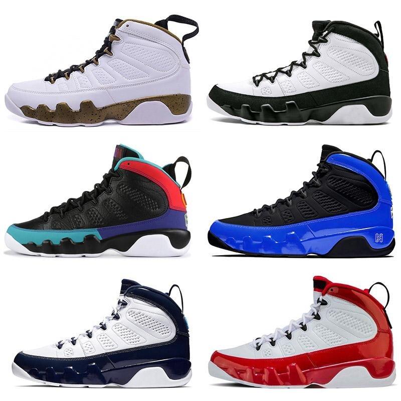 Nuevo calzado de baloncesto de marca Retro 9 Gym rojo 3M Racer azul piel de serpiente OG Space Jam Designer zapatillas deportivas para hombre talla 7-13