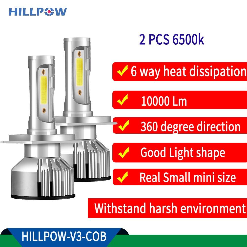 Светодиодная лампа для автомобильных фар H4 H11 H8 HB4 H1 H3 HB3 9006 9007 H13 auto V3 72W 10000LM s2 6500K