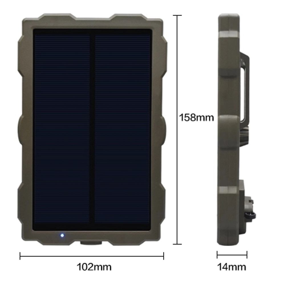 vjoycar t500s big battery power and solar panel collar cow gps tracker for cattle horse camel big hunting dog animal rastreador Solar Power Panel Hunting Camera Charger External Battery Solar Charging for Wild Camera Outdoor Hiking Camping Accessories