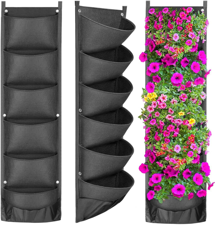 Yeni tasarım dikey asılı bahçe ekici saksı düzeni su geçirmez duvar montaj asılı saksı çantası kapalı açık kullanım