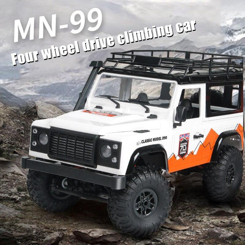 Venta caliente MN-99 escala 112 RC coche de cuatro ruedas coche de D90 modelo de coche de Control remoto de juguete LBV
