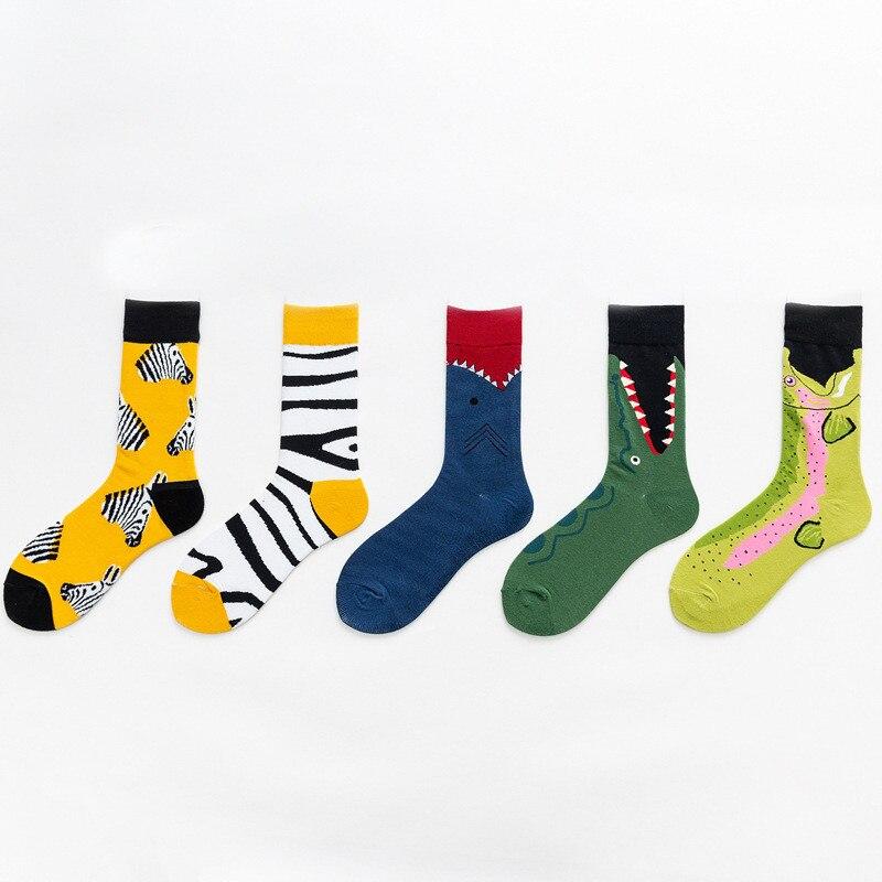 10 pairs New Fashion Women Cotton Animals Zebra Crocodile Socks Harajuku Happy Funny Classical Creative Socks Korean Style