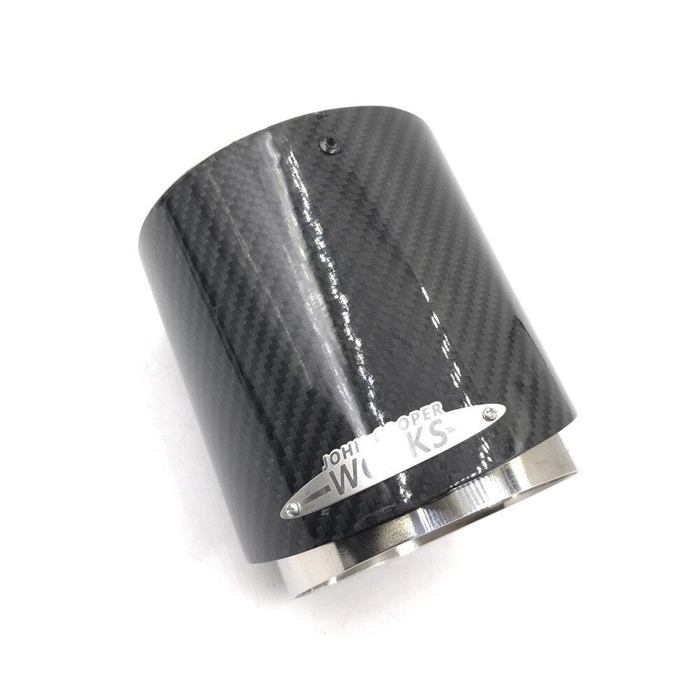 1 Uds coche de fibra de carbono Punta de escape silenciador puntas para mini cooper R55 R56 R57 R58 R59 R60 R61 F54 F55 F56 F57 F60