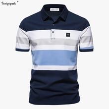 Man polo shirt in stripe classical pattern France luxury brand polo serige park Eden pattern cotton.