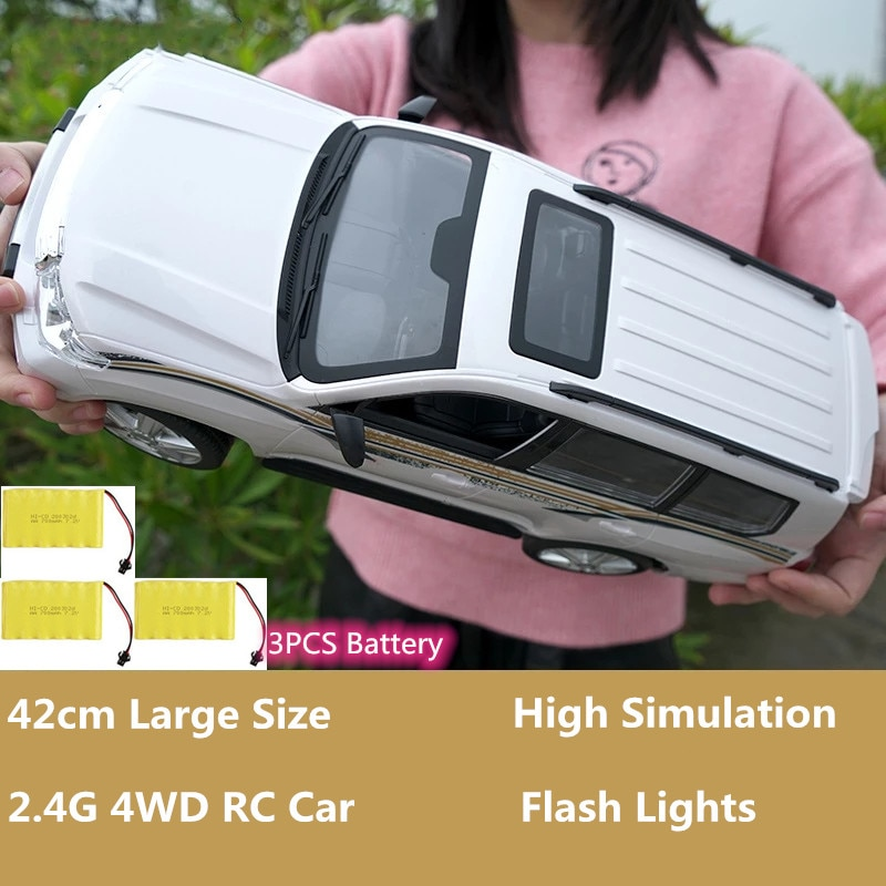 Racing Off-Road Vehicle 42cm large Size 2.4G High Simulation Electric Commercial Car Toy Model With Flash Lights 4WD RTF Gifts