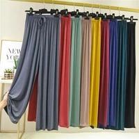 high waist drape modal loose large size wide leg pants women 2021 summer all match thin trousers casual straight leg pants