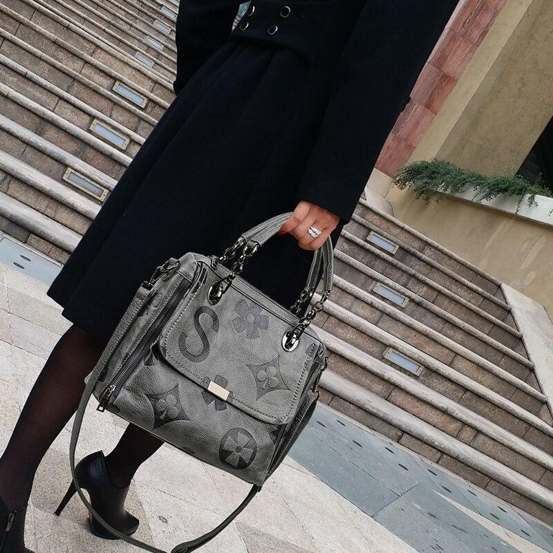 Bolso de lujo para mujer, bandolera de gran capacidad, bandolera de piel auténtica de diseñador a la moda, bandolera de hombro Louis Brand CC GG