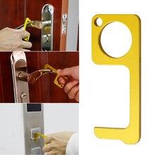 Hygiène main antimicrobien en laiton couleur EDC ouvre-porte et stylet Portable presse ascenseur outil porte poignée clé