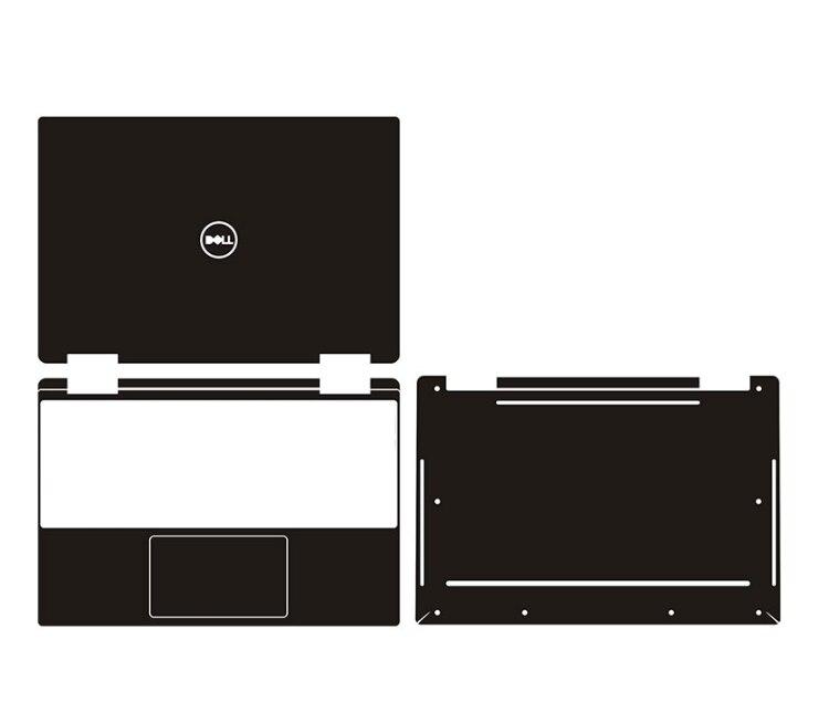 ملصق فينيل من ألياف الكربون لجهاز Dell XPS 13 7390/XPS 13 9310 ، واقي غطاء للكمبيوتر المحمول ، 2 في 1 شاشة تعمل باللمس