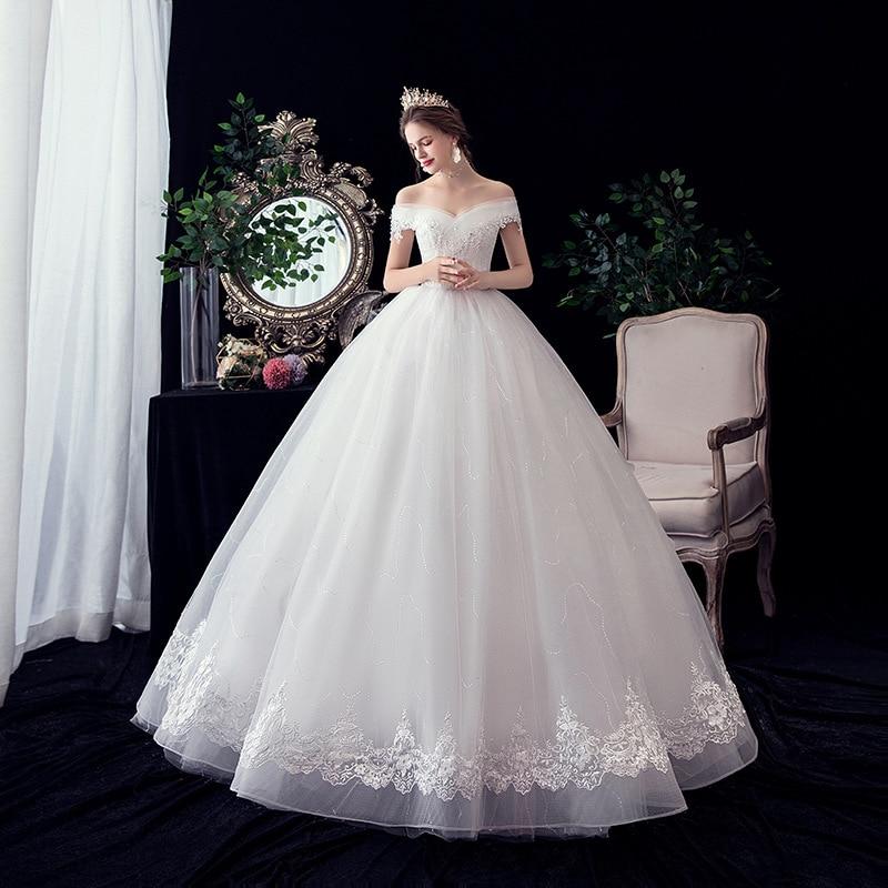 Gryالشيفون-فستان زفاف نسائي ، عتيق ، ياقة قارب ، طول الأرض ، دانتيل ، أكتاف عارية ، مقاس مخصص