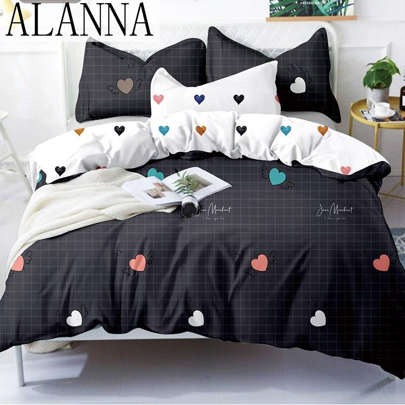 Alanna X serisi 3-4 baskılı katı nevresim takımı s ev yatak seti nevresim takımı 4-7 adet yüksek kalite güzel desen yıldız ağacı çiçek