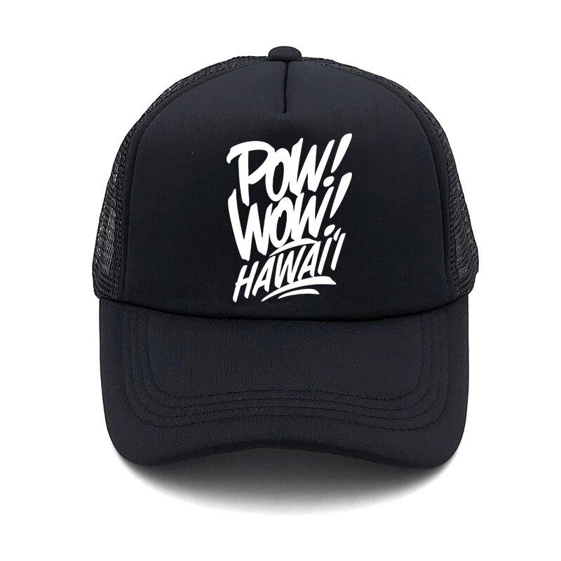 Novo pow wow havaí Cap Verão boné de beisebol carta Para Homens Chapéus Mulheres Snapback Caps Para Adultos Chapéu de Sol Net casquette