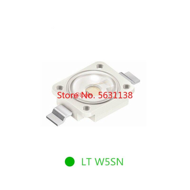 10 pces lt w5sn 6070 verdadeiro verde smd led 700ma 3.5 v 2-3 w emissor de diodo lt W5SN-JYLY-26 PLCC-2 525nm 7.0*6.0mm chip leds potência