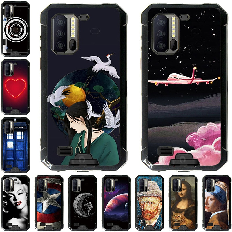 Mobile Phone Cases For Ulefone Armor 7 6.3 inch Color Oil Paint Bag Housing DIY Shell Customized Sup