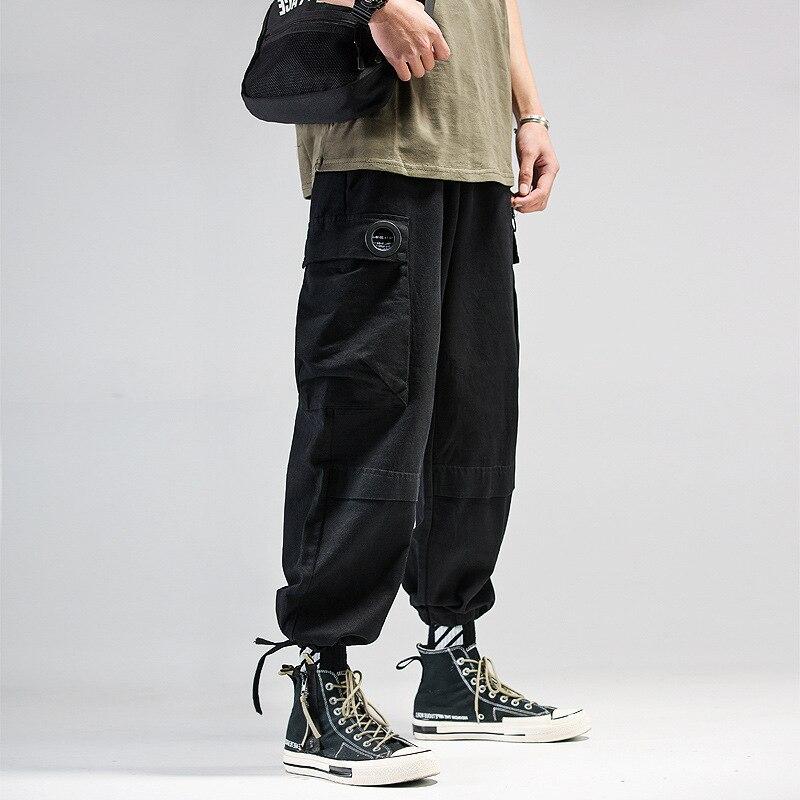 Брюки-карго мужские для бега, штаны в стиле милитари, брюки в стиле хип-хоп, брюки-карго в стиле оверсайз, тренировочная одежда