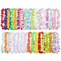pcs hawaiian garland artificial necklace hawaii flowers leis spring party supplies beach fun wreath diy gift justifiable