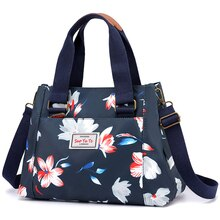 Fashion Floral Pattern Women Handbag High Quality Durable Waterproof Nylon Shoulder Bag 3 Layers Large Capacity Women Tote Bag