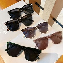 Fashion Oversized Square Sunglasses Couples Vintage Colored Sun Glasses Shades Women Men Black Outdo