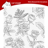rose flowers background clear stamps for scrapbooking card making photo album silicone stamp diy decorative crafts
