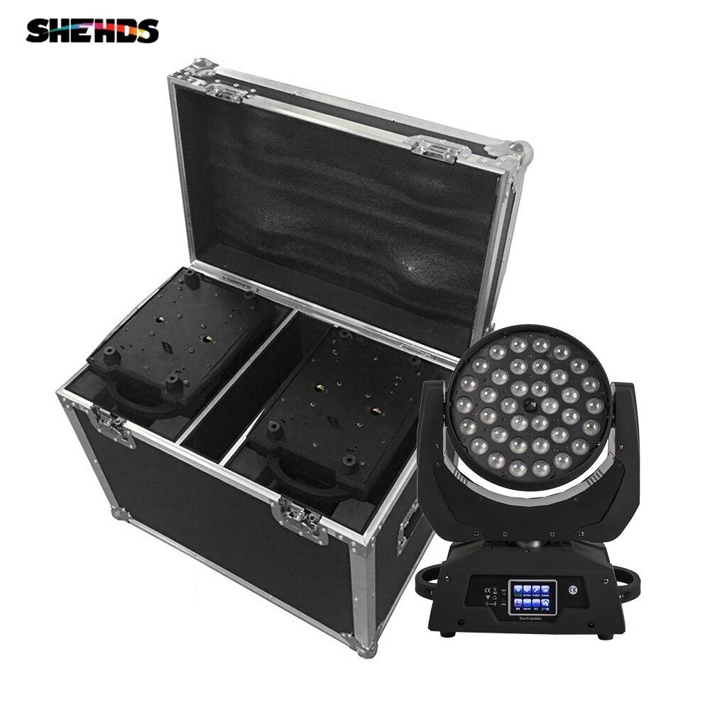 حقيبة نقل مع رأس متحرك Led ، 36x18W RGBW 36x18W ، مصباح غسيل ، RGBWA UV 6 في 1 DMX DJ ، حفلة إزالة الأعشاب