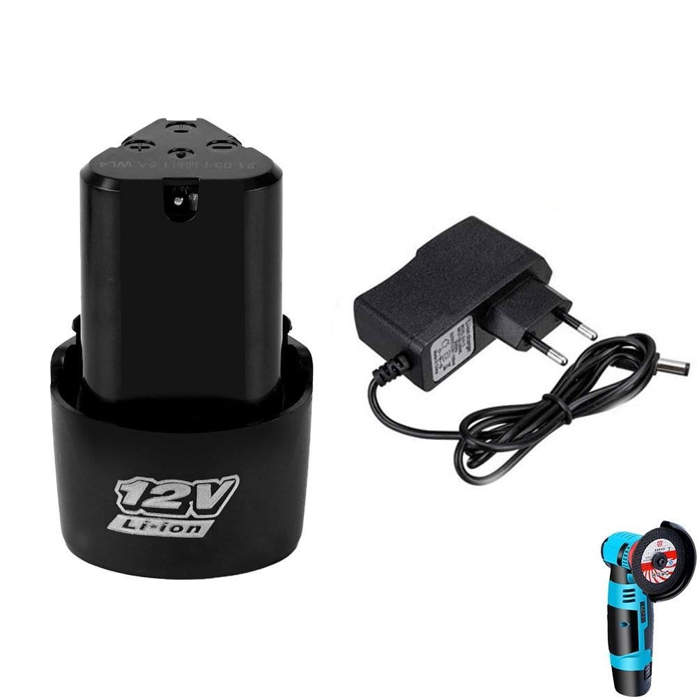 Аккумуляторные батарейки 12 В, литий-ионные аккумуляторы для мини угловой шлифовальной машины, электрической дрели, вилка ЕС