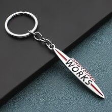 Porte-clés intérieur en métal et cuir, pour Mini Cooper JCW S R50 R53 R55 R56 R57 R60 R61 F54 F55 F56 F60