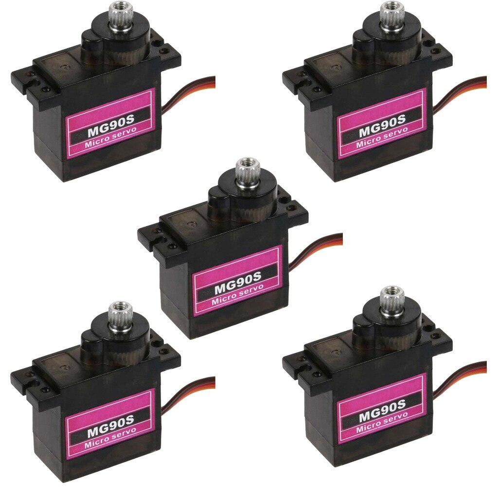 7Pcs MG90S Micro Metal Gear 9g Servo for RC Plane Helicopter Boat Car 4.8V- 6V Accessories kids toys