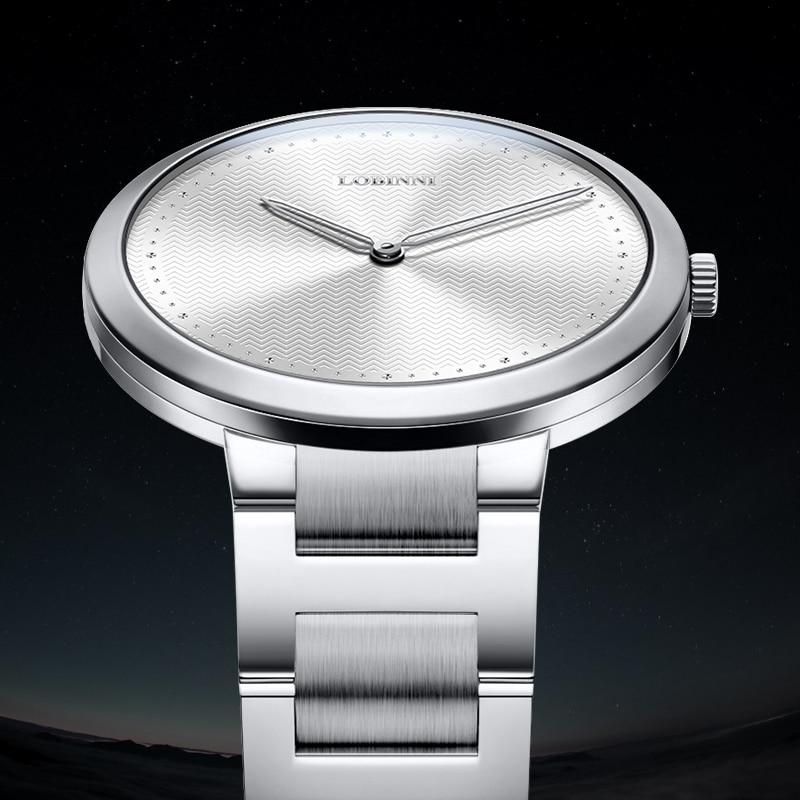 New Luxury Brand LOBINNI Switzerland Women's Watches 6 mm Ultra-thin Quartz Watch Women Sapphire Waterproof Couples Clock L3018 enlarge