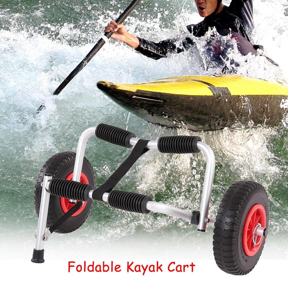 Transportador de Kayak plegable ligero portátil, para transporte de canoa, con ruedas extraíbles, para deportes acuáticos