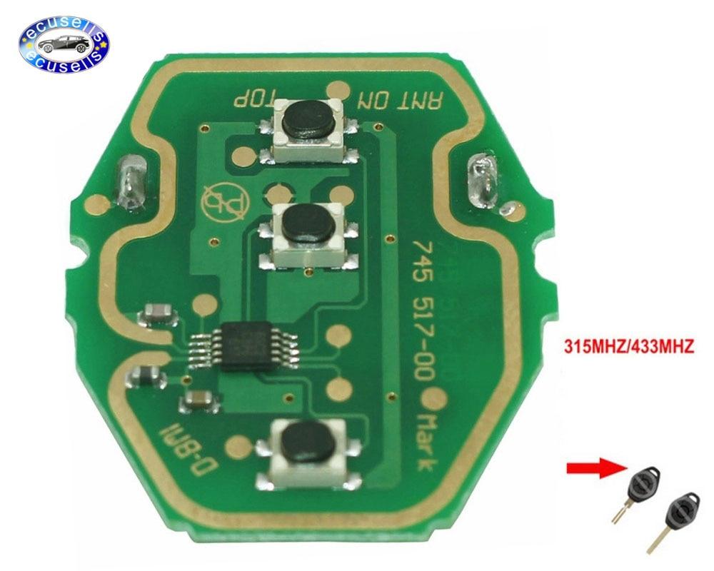 5 шт. новый пульт дистанционного управления EWS 3 кнопки печатная плата 433 МГц или 315 МГц для ключей BMW board board boardboard circuit   АлиЭкспресс