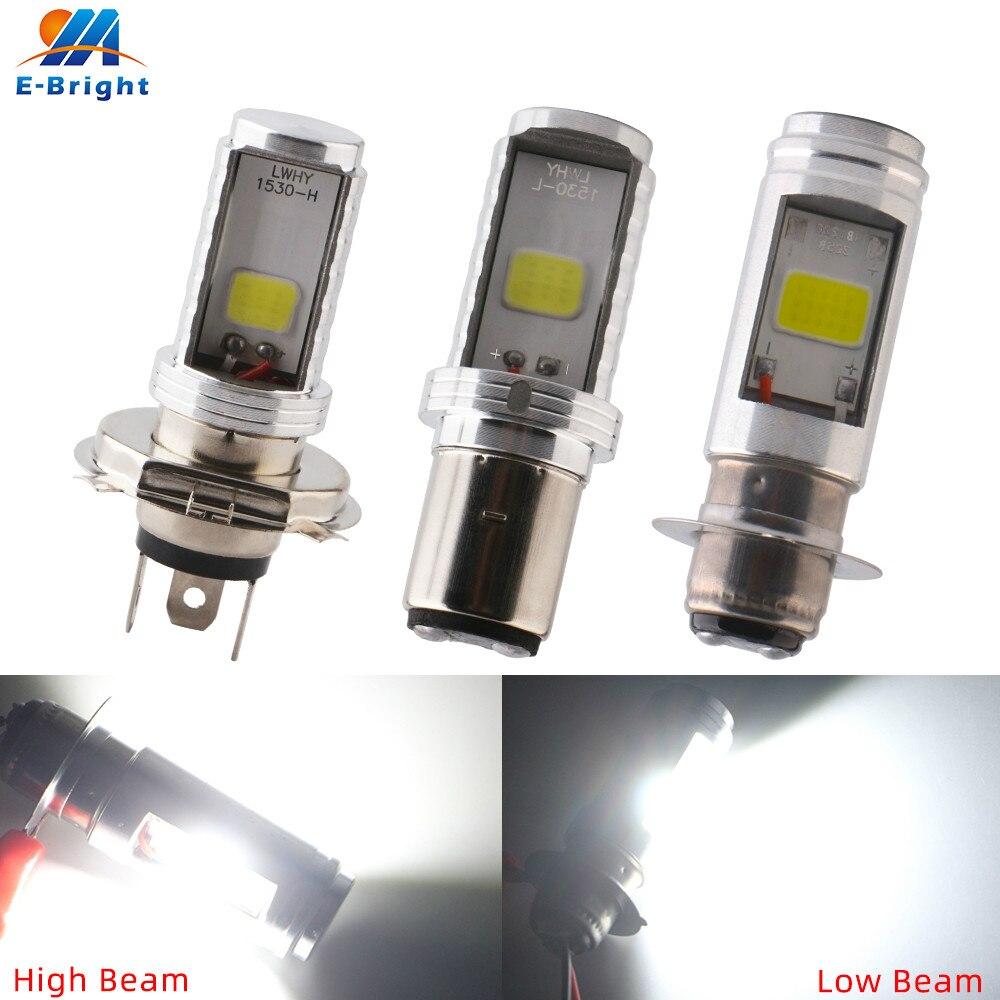 P15D BA20D H6 H4 COB 12W 9-80V żarówki ledowe 900Lm 6500K światła przeciwmgielne uniwersalny silnik samochodowy reflektor lampka ostrzegawcza światła 1 sztuk