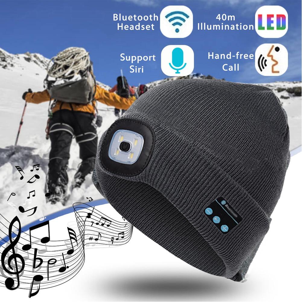 Thefound модный теплый Bluetooth светодиодный головной убор, беспроводная смарт-шапка, гарнитура, динамик для наушников