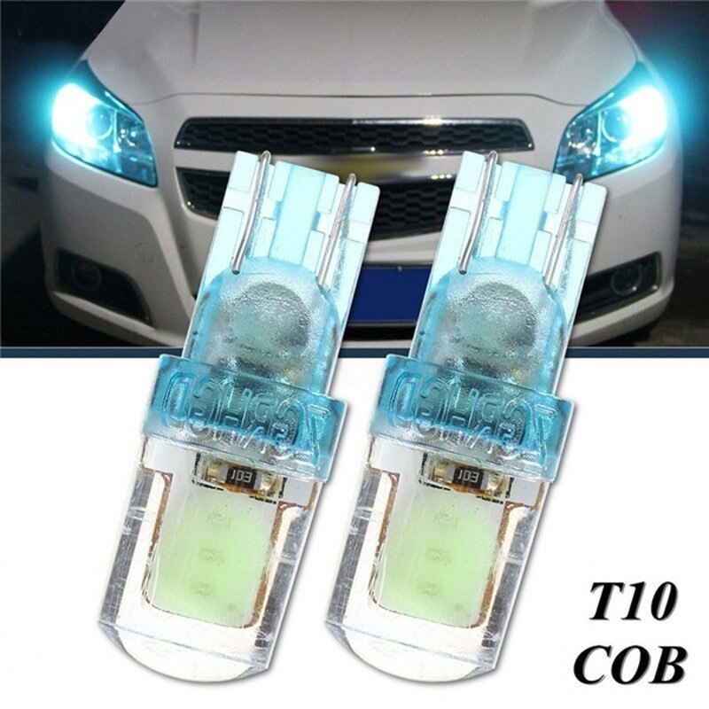 2pcs LED T10 194 168 W5W COB LED Car Silica License Plate Width Light Bulb Ice Lamp Silica Car Bright bulbs silica aerogels