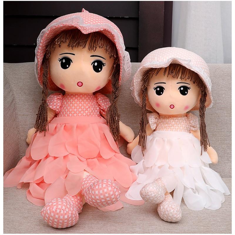 Girls Doll Stuffed Toys Plush Animals Kids for Children Boys Baby Cartoon Soft