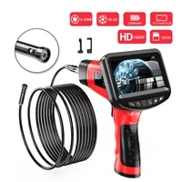 handheld endoscope 1080p 3 9mm 4 3 inch industrial inspection camera with 6 led ip67 waterproof borescope with 32gb tf card