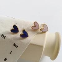 2020 fashion resin heart shaped earrings temperament lovely sweet lady small stud earrings