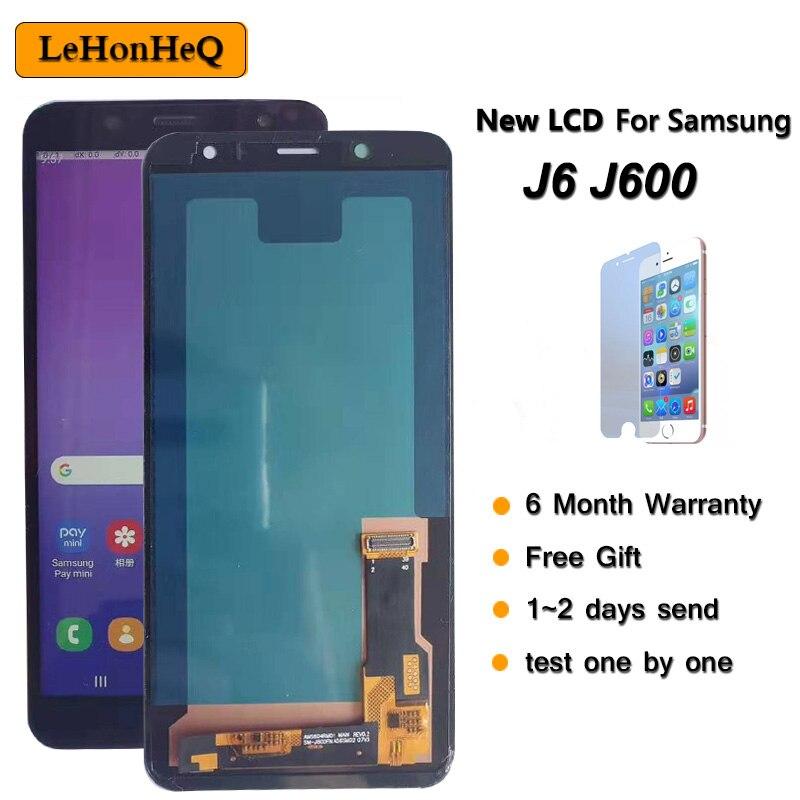 100% Nuevo lcd para Samsung Galaxy J6 2018 J600 J600F J600Y pantalla LCD pantalla táctil para SM-J600F J600G J600FN/ds piezas de montaje