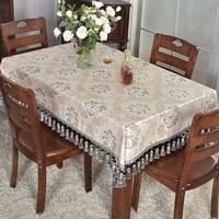 rectangular desk bedroom square tassel tablecloth for living room hotel office household european style placemat custom made