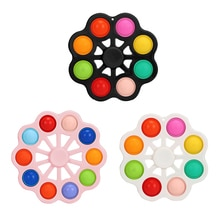 Kids Simple Dimple Finger Bubble Baby Sensory Training Toys Children's Pressing Plate Decompression