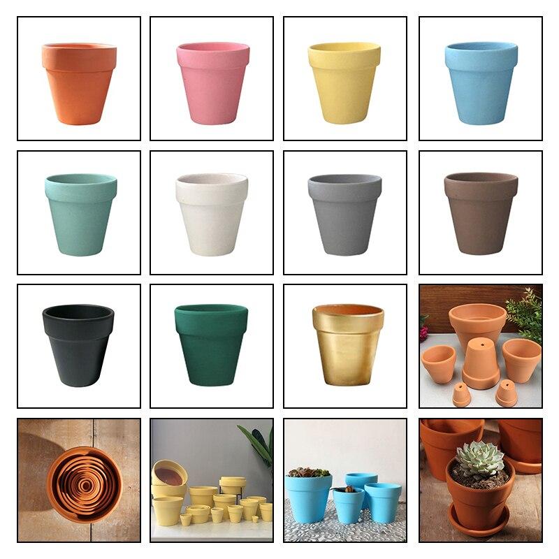 9x9cmSmall Mini Terrakotta Topf Ton Keramik Keramik Pflanzer Kaktus Blumentöpfe Sukkulenten Kindergarten Töpfe Große Keramik Keramik Töpfe